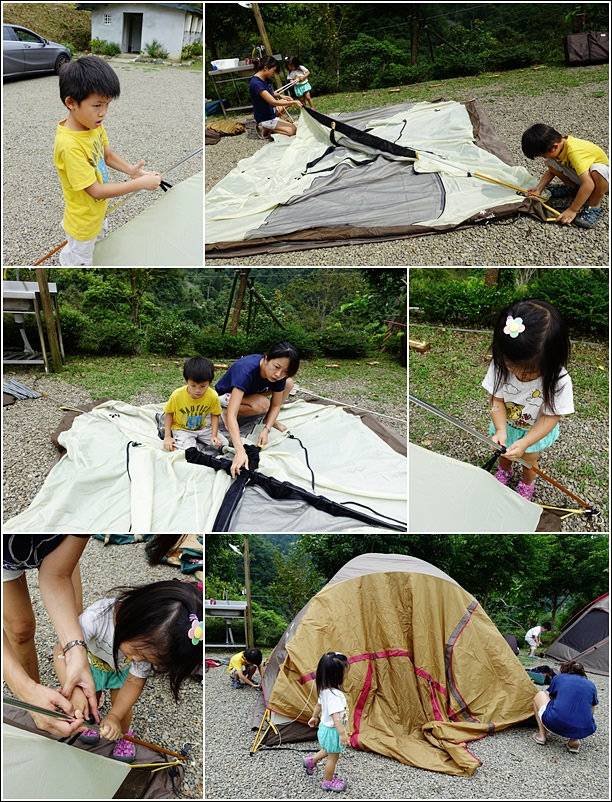 building tent
